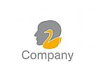 Logo Kopf mit Schwan