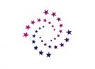 ö, Zeichen, Signet, Sterne, Spirale, Logo