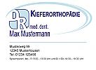 Logo Arzt Zahnarzt Visitenkarte