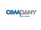 Logo Schriftzug mit Weltkugel. Globales Handeln, Internet, Reisen