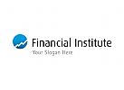 Aufsteigendes Diagramm - Finanz Logo