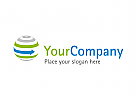 Globus mit Pfeil - Umwelt Logo