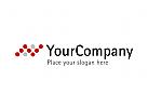 Aufsteigendes Diagramm aus Punkten - Finanz Logo