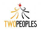 Zwei Menschen