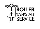 Roller Vespa Moped Werkstatt Logo