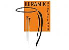 Ein Logo für Keramikhersteller oder -Verkäufer. Eine Krugzeichnung teilweise auf orangen Hintergrund.