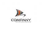 Segelboot Segelschiff Segelyacht Logo