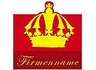 Gelbe Krone auf rotem Grund, Logo