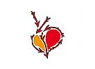 Logo Herz Liebe Pfleile Amor Dating