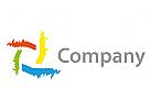 Vier Striche Logo