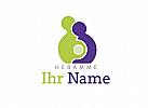 Schwangere mit Hebamme Logo