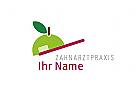 Zahnbürste mit Apfel Logo