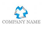 Viele Rechteck, 3D Form, Consulting, Coaching, Beratung Logo