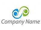 Zwei Spirale, Spirale, Wellen, Linien, Logo