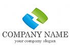 Zwei Segmente in 3D Logo