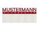Logo für Raumausstatter, Wohndesign, Innenarchitekt, Teppiche und Tapeten