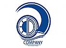Sch�ne logo Bahrkt Wave Segel Boot f�r alle beteiligten Unternehmen.