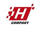 Zeichen, Signet, Logo, H, Pixel