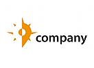 Travel Pin Reise Sonne Logo