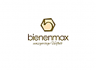 """Logo mit Anfangsbuchstaben """"b"""" für eine Imkerei"""