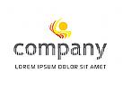 Ästhetisch abstraktes Logo