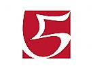 Logo five, fünf, 5