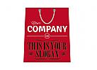 Einkaufstasche, Einkaufstüte mit Firmenname und Slogan