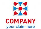 Pfeilspitzen mit Zentrum Logo
