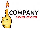 Daumen mit Feuer Logo