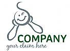 augenzwinkerndes Lächeln Logo