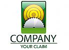 Sägeblatt und Baumscheibe Logo
