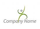 Öko, Zeichen, Zeichnung, Symbol, Person, Bewegung, Sport, Fitness, Logo