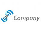 Wellen, Information, Datenverarbeitung, IT Logo