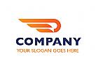Zeichen, Signet, Logo, Flügel, Logistik, P