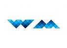 Zeichen, Signet, Logo, Pixel, W, M