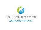 Zahnarzt Logo, med. Kreuz