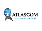 Zeichen, Signet, Logo, Mensch Atlas, Transport / Logistik