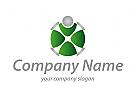 X, Person, abstrakt Logo
