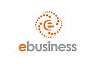 Zeichen, Signet, Logo, E, Business, Kugel, Spirale