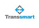 Zeichen, Signet, Logo, Transport / Logistik, Pfeilrichtungen