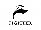 Fighter-eagle logo design