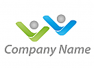 Zwei Personen, Menschen, Logo