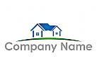 Zwei H�user zusammen Logo