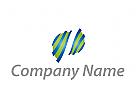 Wellen, Kugel, Technologie, Dienstleistungen Logo