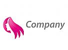Logo für Frisör, Kosmetik