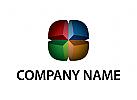 Abstraktes, 3D, Colorful, Logo