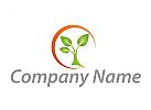 Zeichen, Zeichnung, Symbol, Sonne und Baum Logo