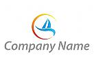 Zeichen, Zeichnung, Symbol, Segelschiff Logo