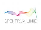 Spektrum, Linie, Musik, bunt, minimalistisch, Logo