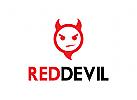 Teufel, Kopf, Hölle, Teufel, rot, schwarz, böse